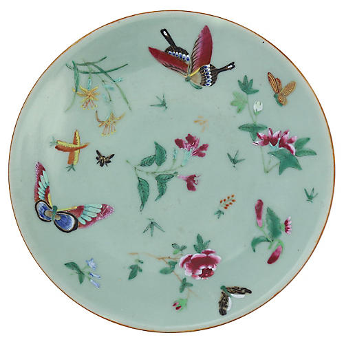 Antique Chinese Export Celadon Plate