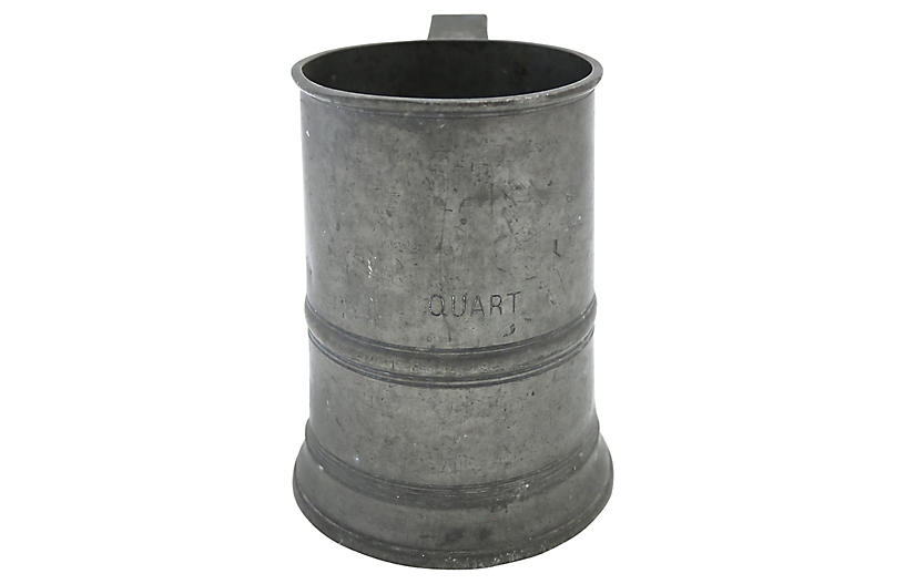 Antique English Pewter Ale Tankard
