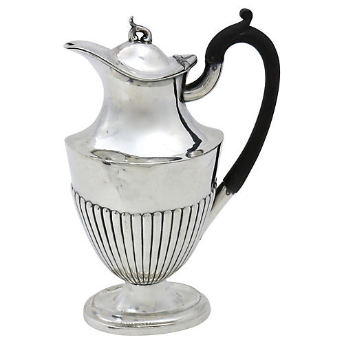 English Silver-Plate Wine Jug