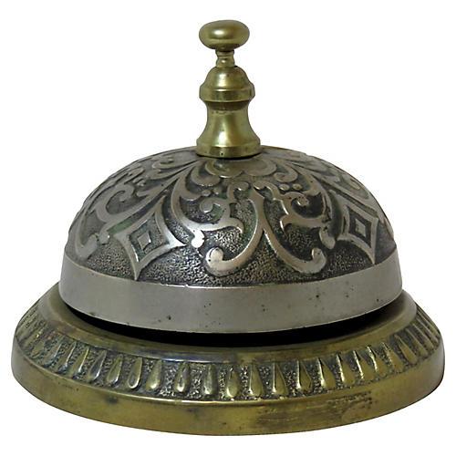 Antique Victorian Bronze Hotel Bell