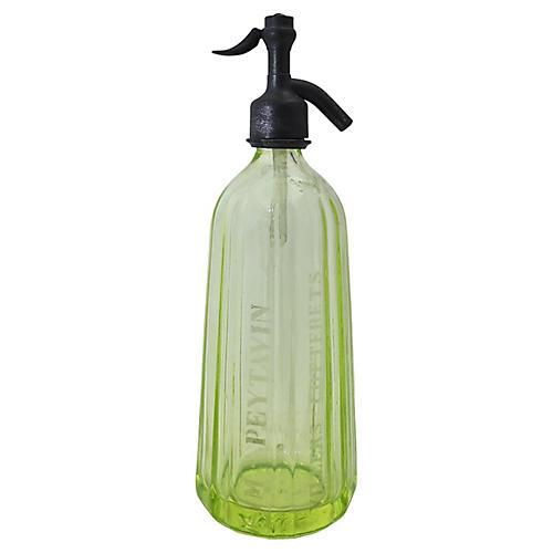 French Vaseline Glass Seltzer Bottle