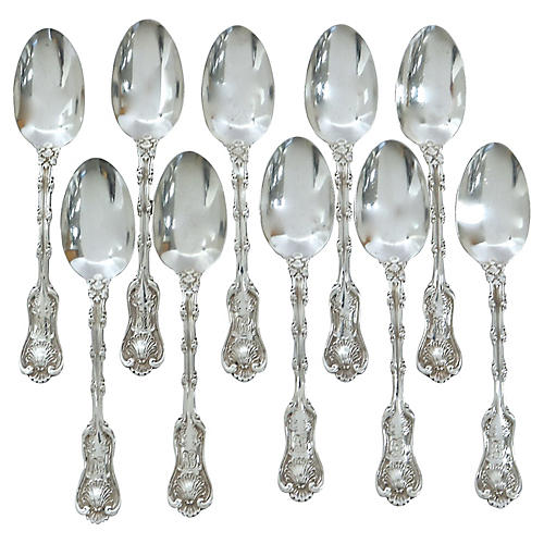 Gorham Sterling Imp. Queen Spoons, S/10