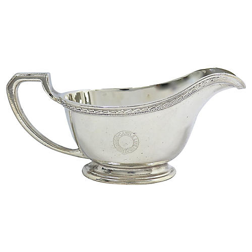 English Steamliner Hotelware Sauce Boat