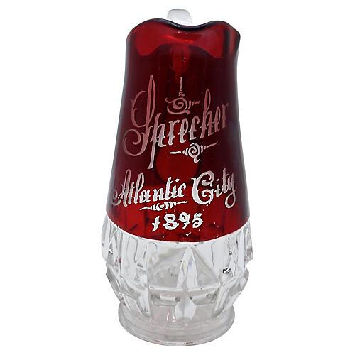 Large Antique Atlantic City Souvenir Jug