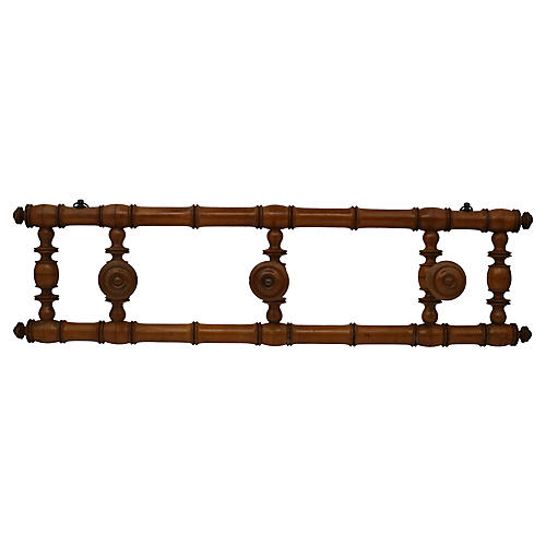 Antique French Wall Mounted Coat Rack