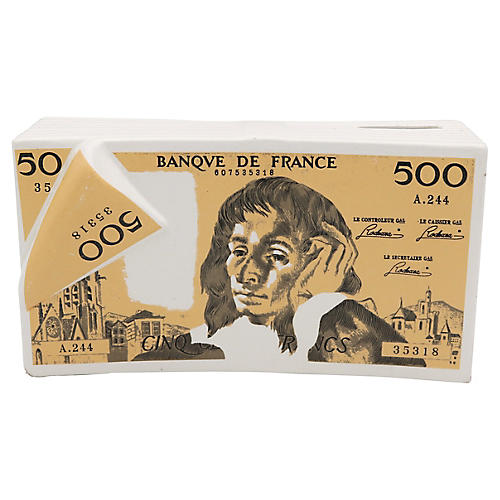 Bank of France French Franc Money Bank
