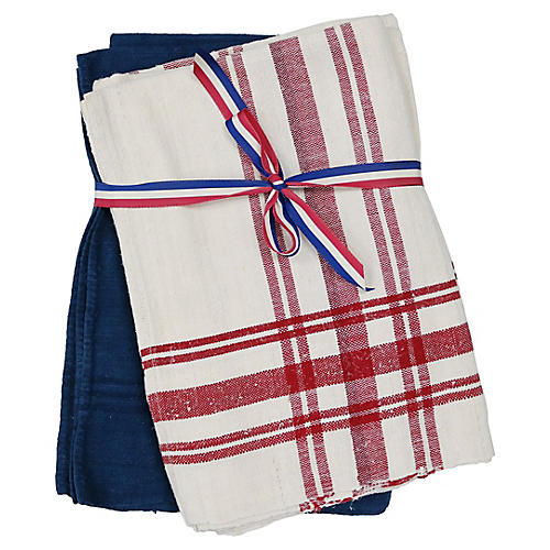 French Dish Towels, S/2