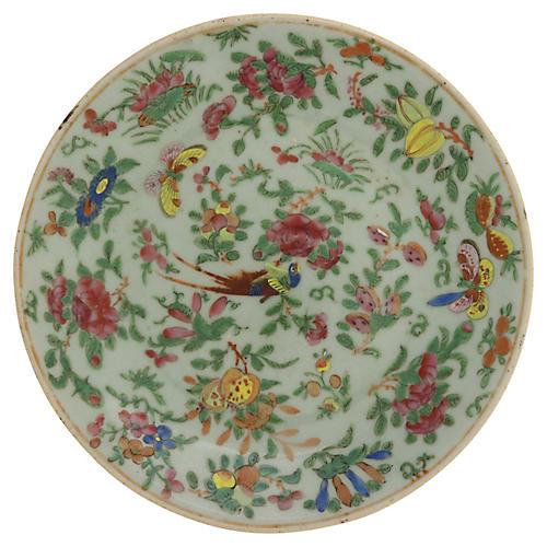 Antique Chinese Celadon Wucai Plate