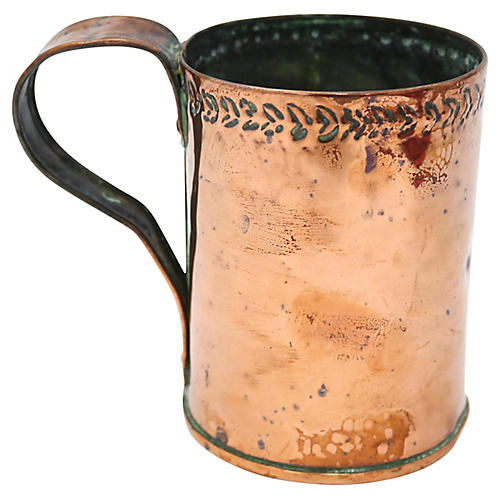 Antique English Copper Moscow Mule Mug