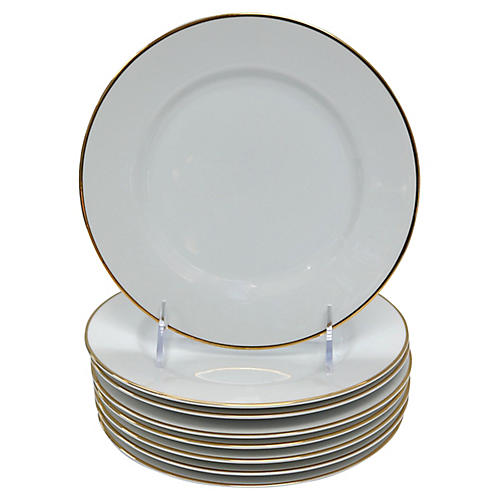 Tiffany & Co. Dessert Plates, S/8