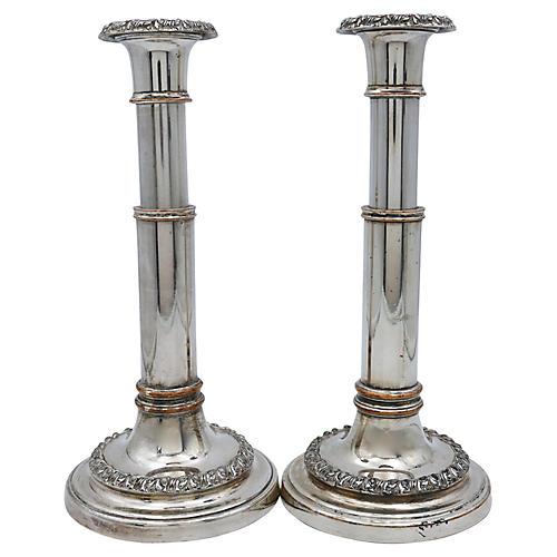 English Telescopic Candlesticks, Pair