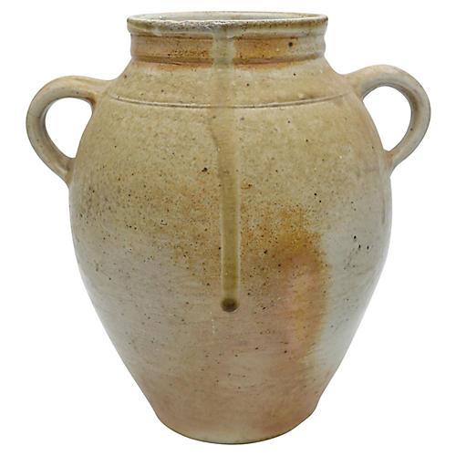 Antique French Stoneware Pot