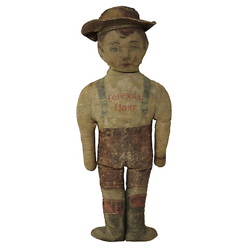Antique Cloth Advertising Doll