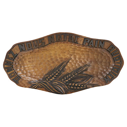 Hand Carved French Bread Board