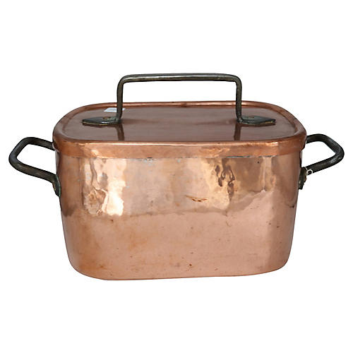 Antique French Copper Roasting Pan