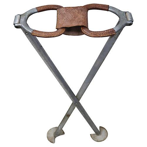 Midcentury English Shooting Sitck Seat