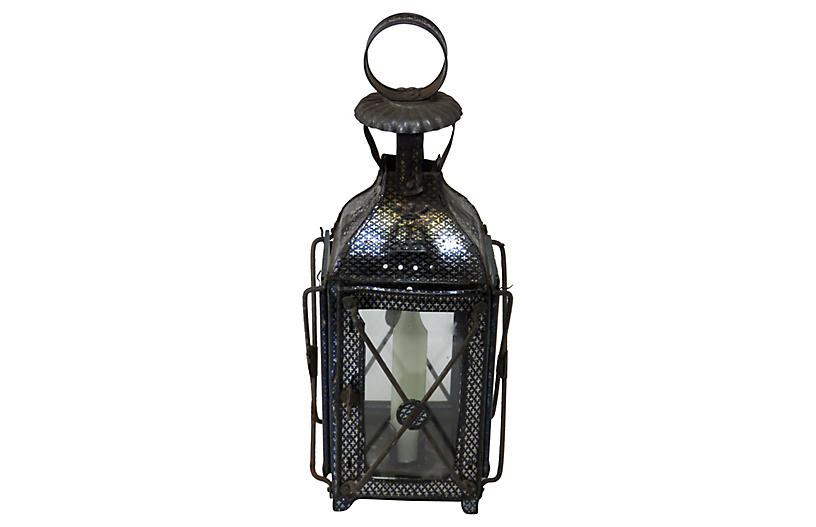 1880s Antique Tin Candle Lantern
