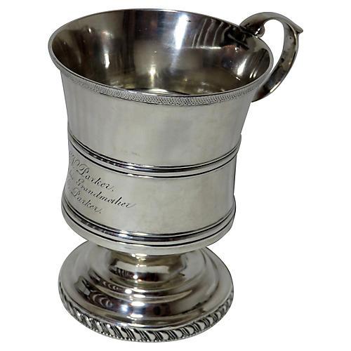 American Coin Silver Cup Circa 1850