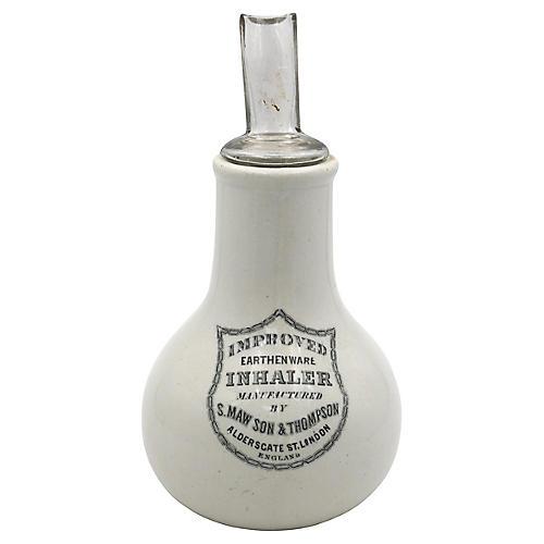 Antique English Ironstone Inhaler