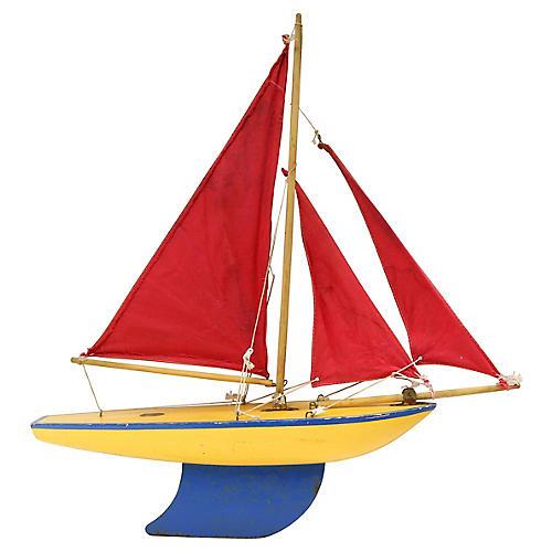 Mid-Century English Pond Boat