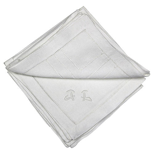French Art Deco Cocktail Napkins, S/6