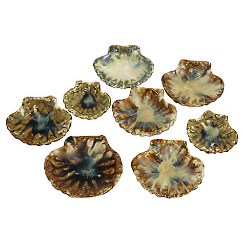"""French """"Scallops St. Jacque"""" Dishes, S/8"""