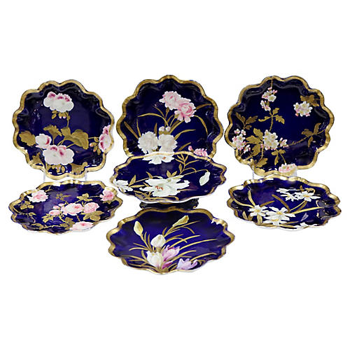 Hand-Painted English Serving Set, 7 Pcs