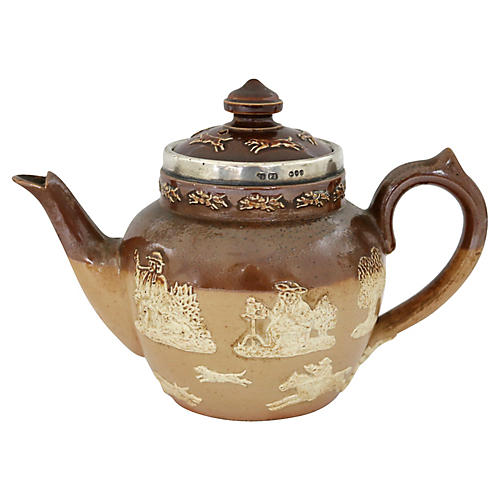 Doulton Sterling Top Tea for One Teapot