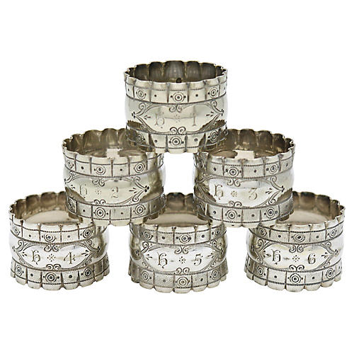 English Officers Numbered Napkin Rings