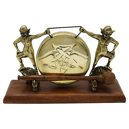 English Brass Folklore Imp Dinner Gong