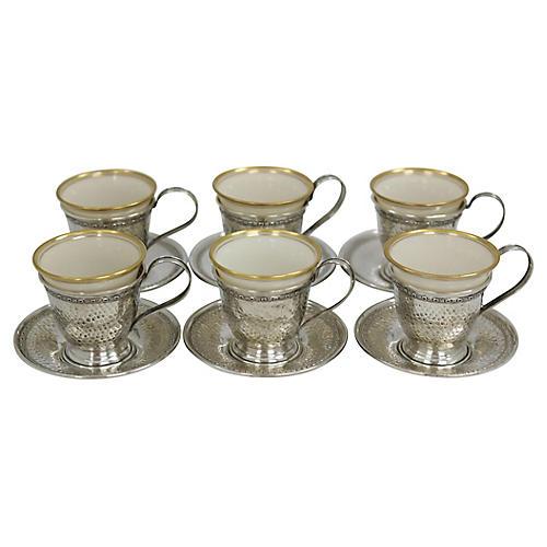 Lennox Sterling Silver Espressos, S/6