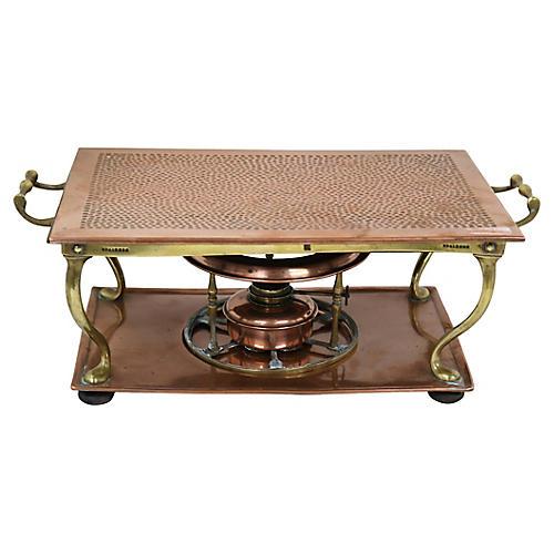 Antique English Copper Heated Trivet