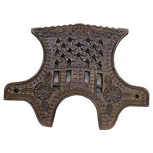 17th-C. English Handmade Wall Carving