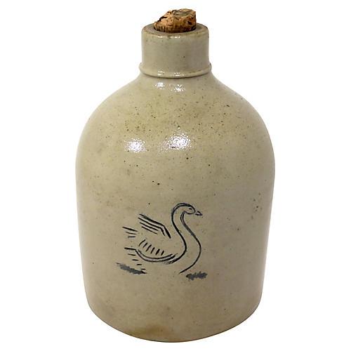 Antique Stoneware Cider Jug