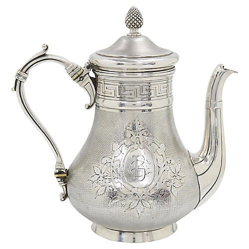 Antique French Christofle Coffee Pot