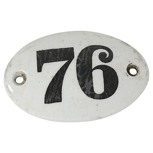 19th-C French Porcelain Wine Barrel Tag