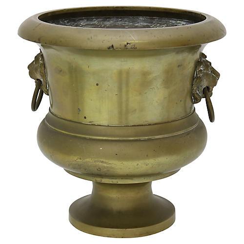 Antique Bronze Garden Urn