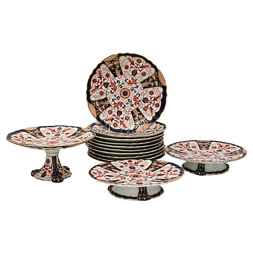Antique English Ironstone Set,13 Pc