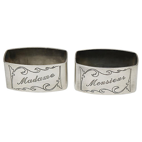French Wedding/Anniversary Napkin Rings