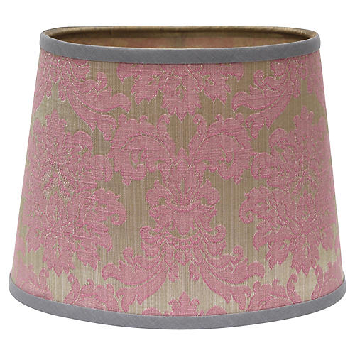 Oval Silk Jacquard Lampshade