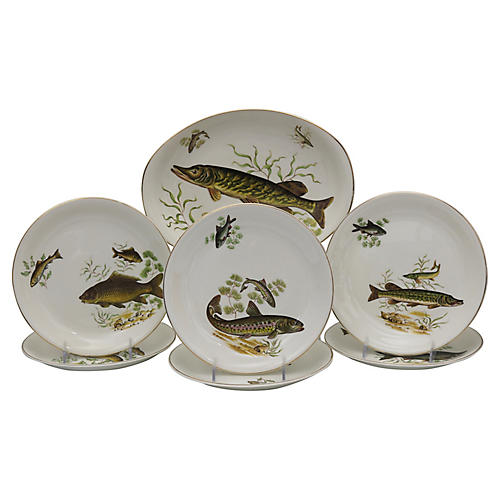 English Fish Serving Set, 7Pcs