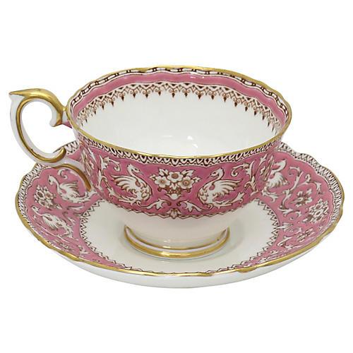 English Griffon Pattern Cup & Saucer