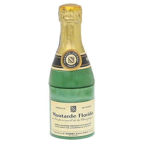 French Milk Glass Champagne Mustard Pot