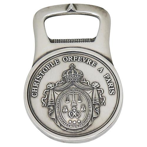 Christofle Silver-Plate Bottle Opener