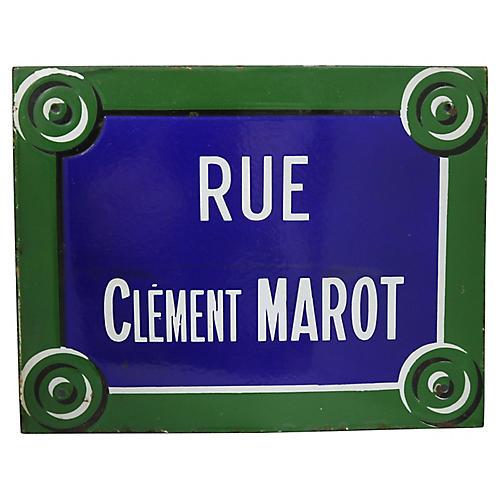 Rue Clèment Marot Paris Street Sign