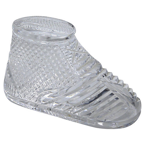 Waterford Crystal Baby Shoe Paperweight