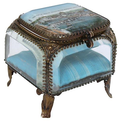 Antique 1908 London Souvenir Jewelry Box