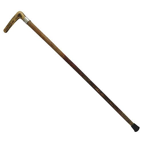 Antique Horn Handled Walking Stick