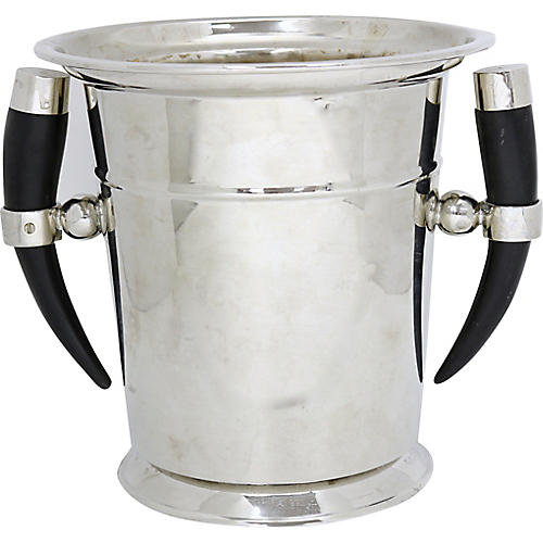 French Champagne Bucket w/Natural Horns