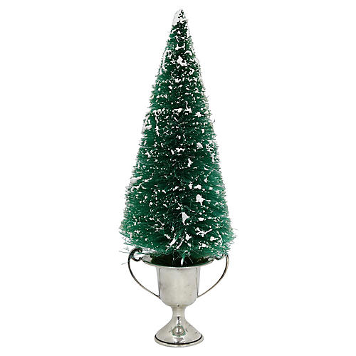1960s Bottle Brush Tree w/ Blank Trophy